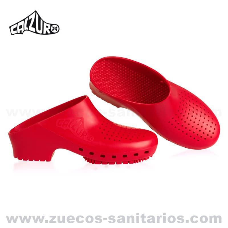 Zuecos Sanitarios Calzuro Rojo