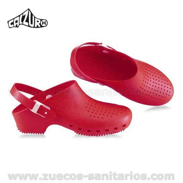 Zuecos Calzuro Rojo con tiras