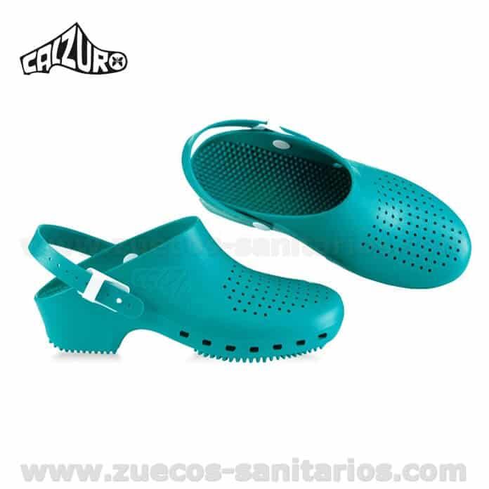Zuecos Calzuro Con Tira Menta Oferta Promocion Zuecos
