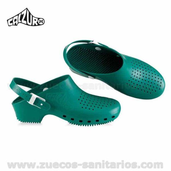 Zuecos Calzuro Verde con tiras
