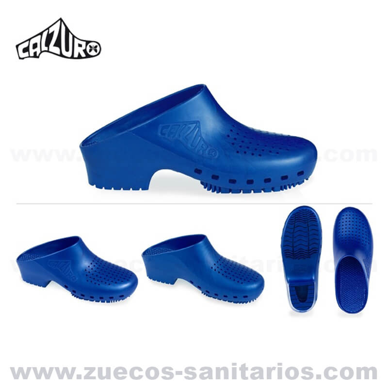 mejor autentico 0341b 9168d Zuecos Sanitarios Calzuro Azul Metalizado