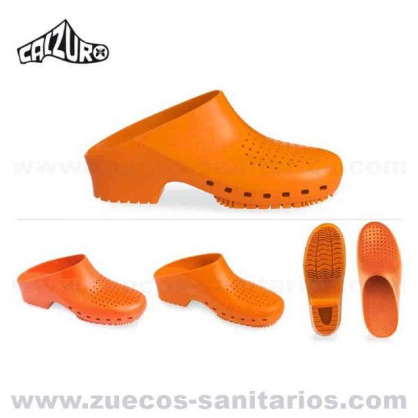 Zuecos Calzuro Naranjas